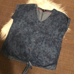 Jones New York denim blouse